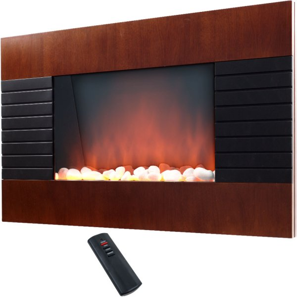 Warn-House-Mahogany-Trim-Electric-Fireplace-Heater-with-Remote-750-1500-Watt